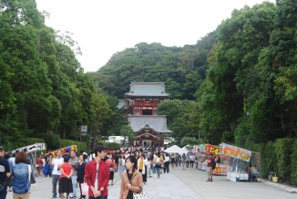 View of Tsurugoaka Hachimangu Shrine